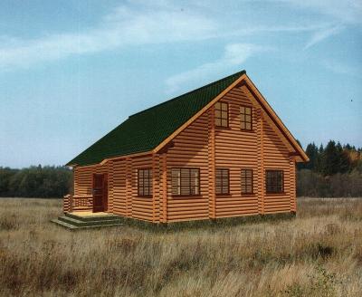 Проект дома из бревна ДБ-100