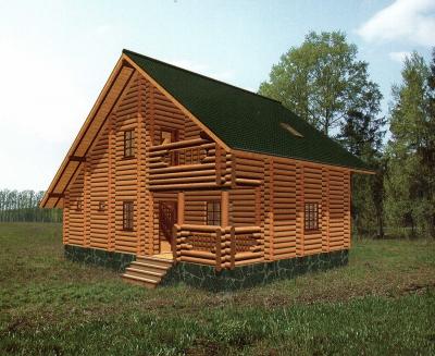 Проект дома из бревна ДБ-101