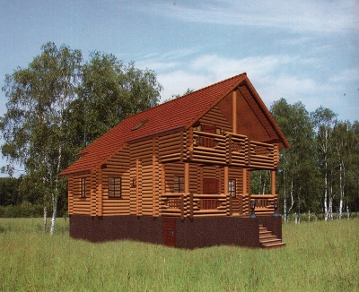 Проект дома из бревна ДБ-102