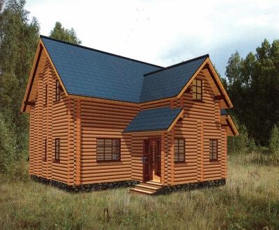 Проект дома из бревна ДБ-103