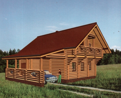 Проект дома из бревна ДБ-105