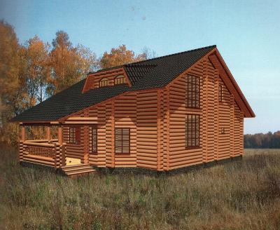 Дом из оцилиндрованного бревна ДБ-109, 174м2