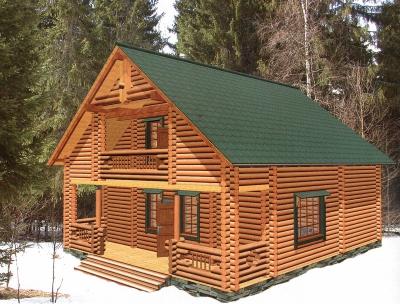 Проект дома из бревна ДБ-110