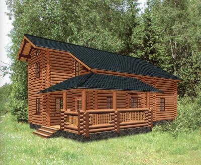 Дом из оцилиндрованного бревна ДБ-111, 180м2