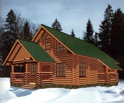 Проект дома из бревна ДБ-112