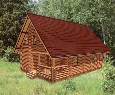 Дом из оцилиндрованного бревна ДБ-113, 183м2