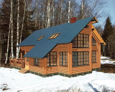 Проект дома из бревна ДБ-114