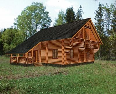 Проект дома из бревна ДБ-116