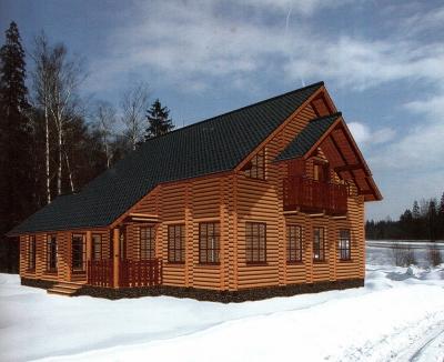 Проект дома из бревна ДБ-118
