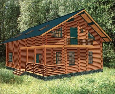 Проект дома из бревна ДБ-120