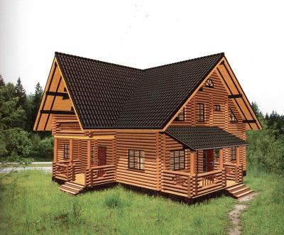 Проект дома из бревна ДБ-121