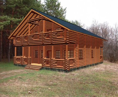 Проект дома из бревна ДБ-122