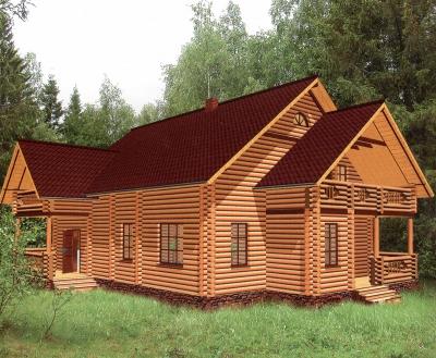 Проект дома из бревна ДБ-123