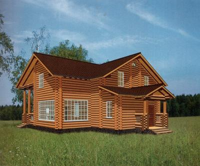 Проект дома из бревна ДБ-125