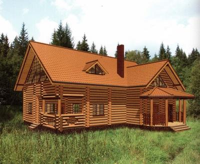 Дом из оцилиндрованного бревна ДБ-127, 279м2