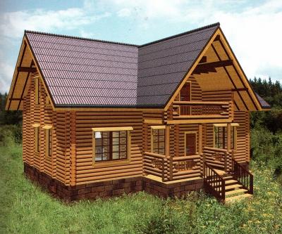 Дом из оцилиндрованного бревна ДБ-129, 291м2