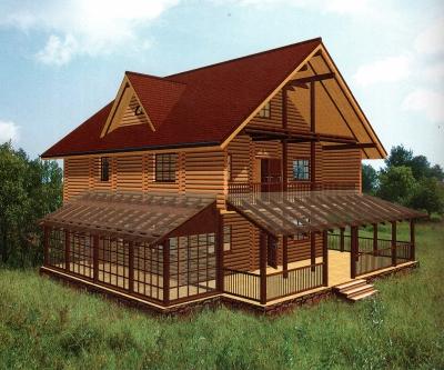 Проект дома из бревна ДБ-130