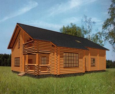 Дом из оцилиндрованного бревна ДБ-135, 312м2