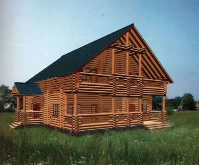 Проект дома из бревна ДБ-136