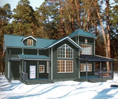 Дом из оцилиндрованного бревна ДБ-137, 331м2