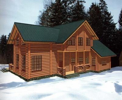 Проект дома из бревна ДБ-138