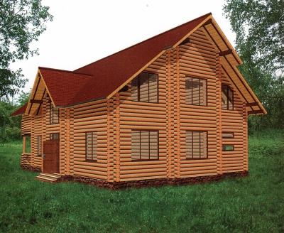 Дом из оцилиндрованного бревна ДБ-140, 349м2