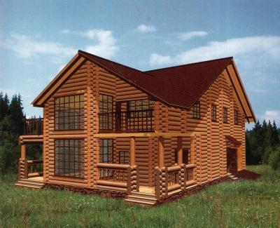 Дом из оцилиндрованного бревна ДБ-141, 352м2