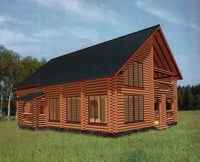 Проект дома из бревна ДБ-142