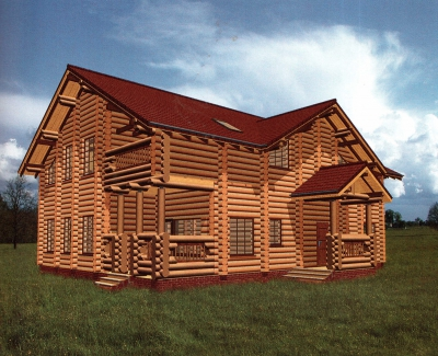 Проект дома из бревна ДБ-143
