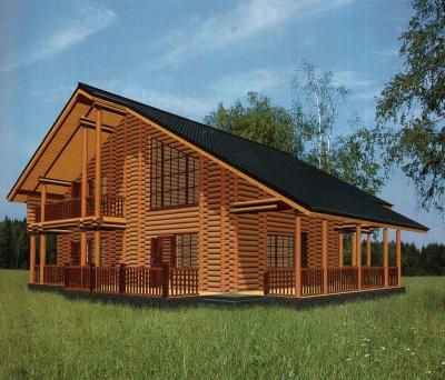 Дом из оцилиндрованного бревна ДБ-145, 369м2