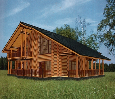 Проект дома из бревна ДБ-145
