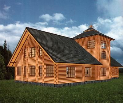 Дом из оцилиндрованного бревна ДБ-146, 373м2