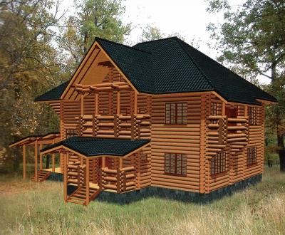 Дом из оцилиндрованного бревна ДБ-147, 376м2