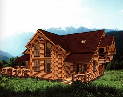 Проект дома из бревна ДБ-148