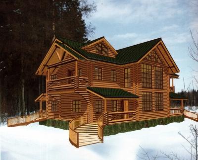 Проект дома из бревна ДБ-150