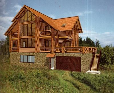 Проект дома из бревна ДБ-151