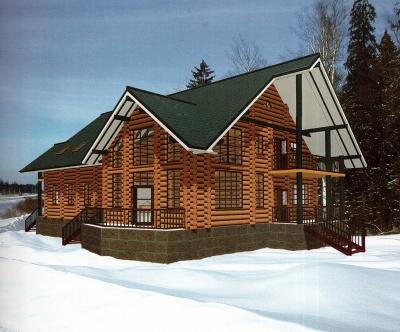 Проект дома из бревна ДБ-152