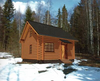 Проект дома из бревна ДБ-19