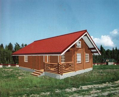 Дом из оцилиндрованного бревна ДБ-21, 62м2
