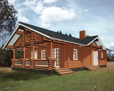 Дом из оцилиндрованного бревна ДБ-26, 95м2