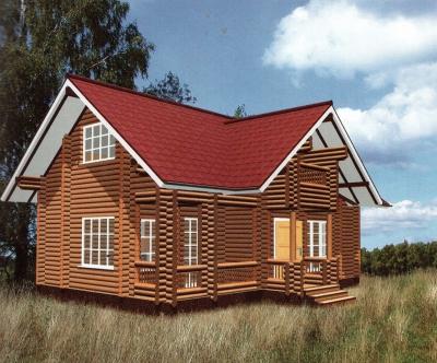 Дом из оцилиндрованного бревна ДБ-28, 105м2