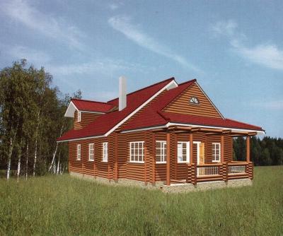 Дом из оцилиндрованного бревна ДБ-29, 115м2