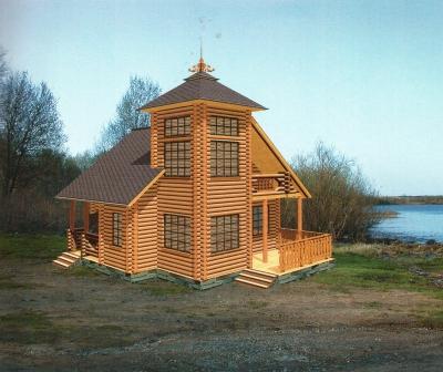 Дом из оцилиндрованного бревна ДБ-30, 121м2