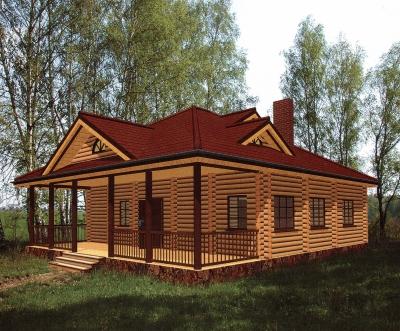 Дом из оцилиндрованного бревна ДБ-31, 122м2