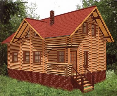 Дом из оцилиндрованного бревна ДБ-36, 156м2