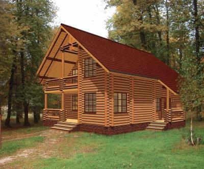 Дом из оцилиндрованного бревна ДБ-44, 192м2