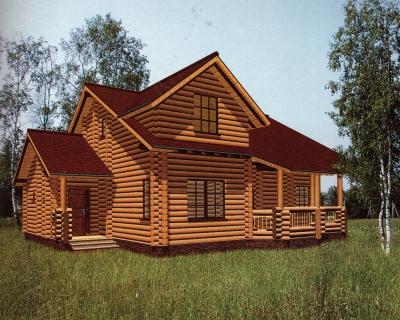 Проект дома из бревна ДБ-45