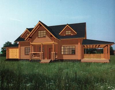 Дом из оцилиндрованного бревна ДБ-55, 257м2
