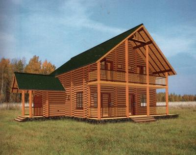 Проект дома из бревна ДБ-56