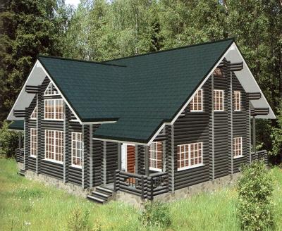 Дом из оцилиндрованного бревна ДБ-58, 267м2